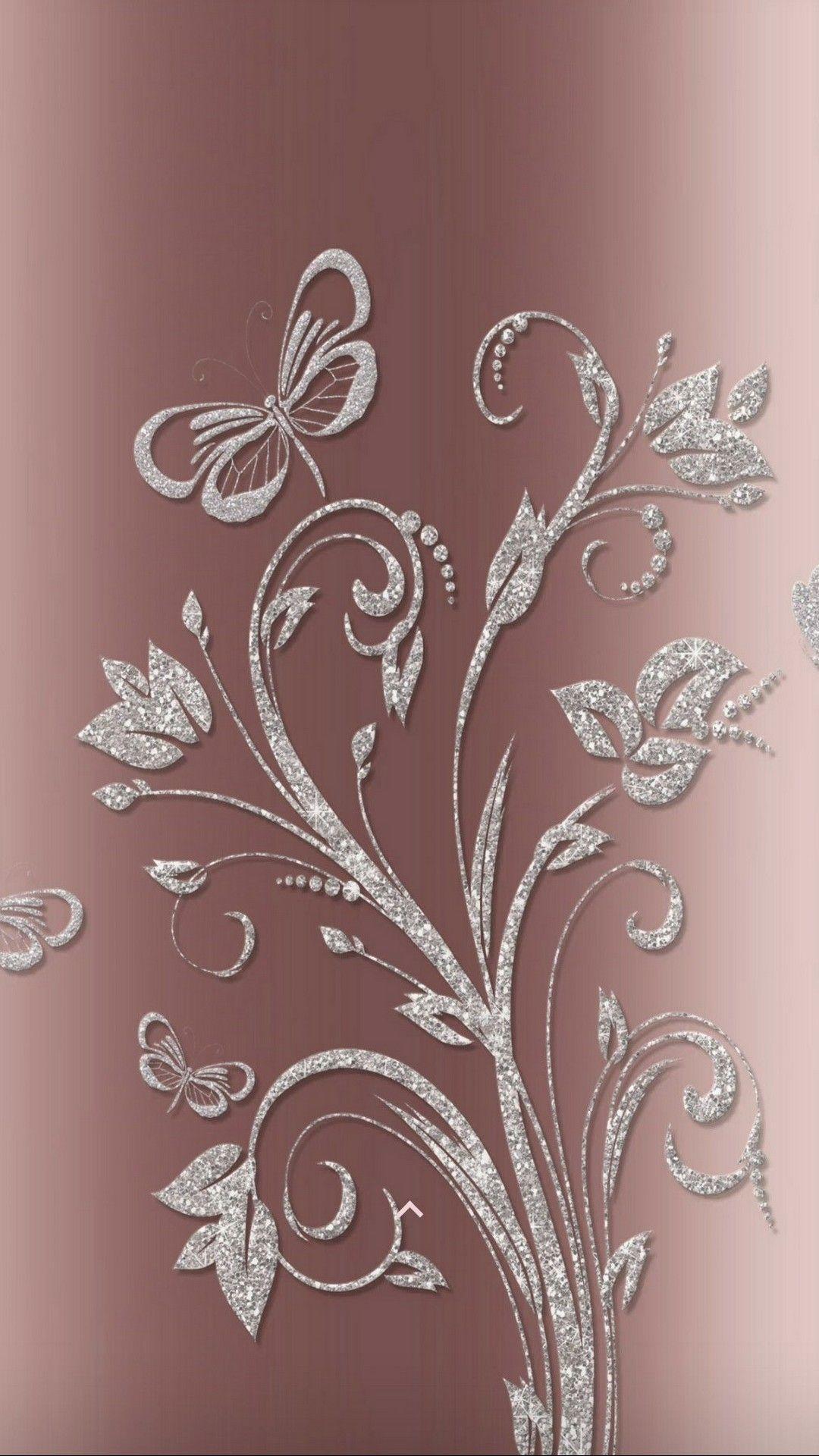 Gold Rose Theme Wallpaper Iphone Rose Gold Wallpaper Bling