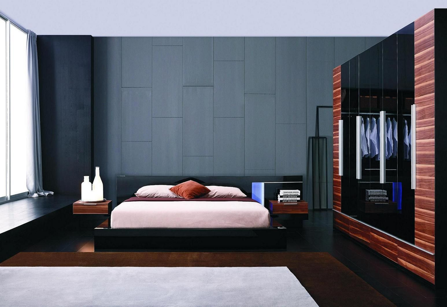 Best Truelax Modern Black Lacquer Bed Free Shipping 400 x 300
