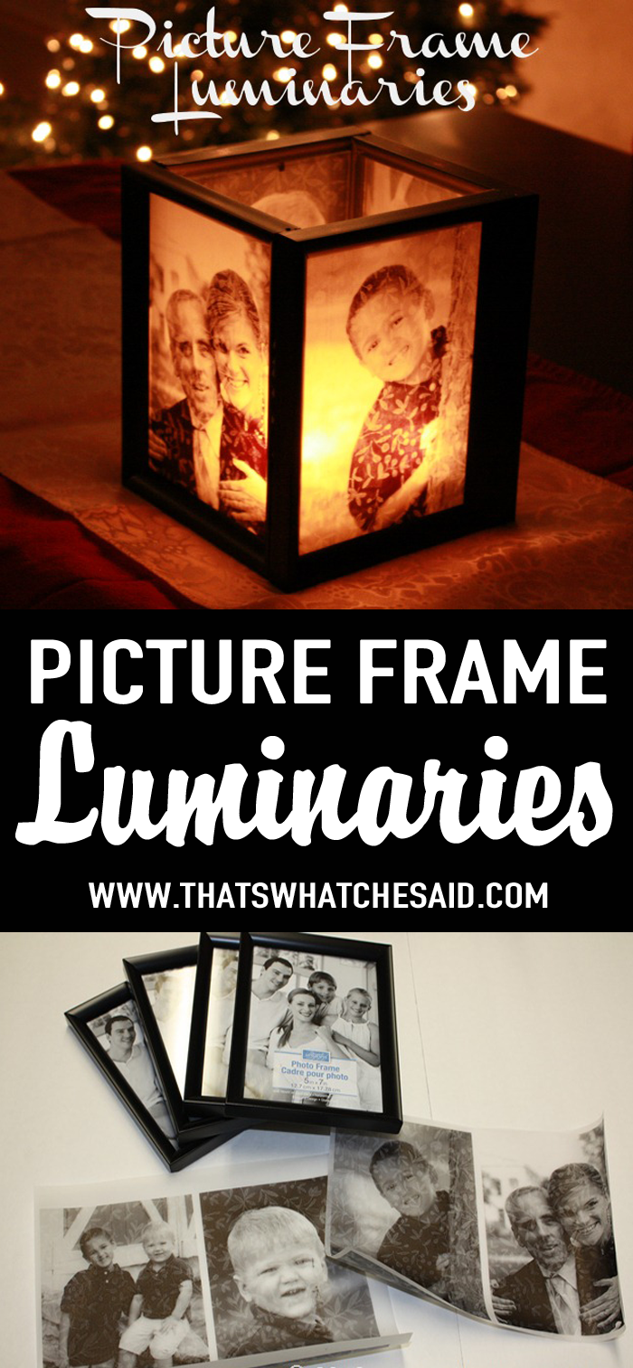 Picture Frame Luminaries at thatswhatchesaid.com | Share Today\'s ...