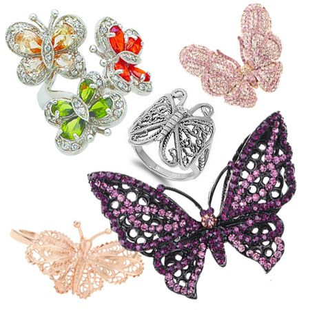 Cute Butterfly Rings