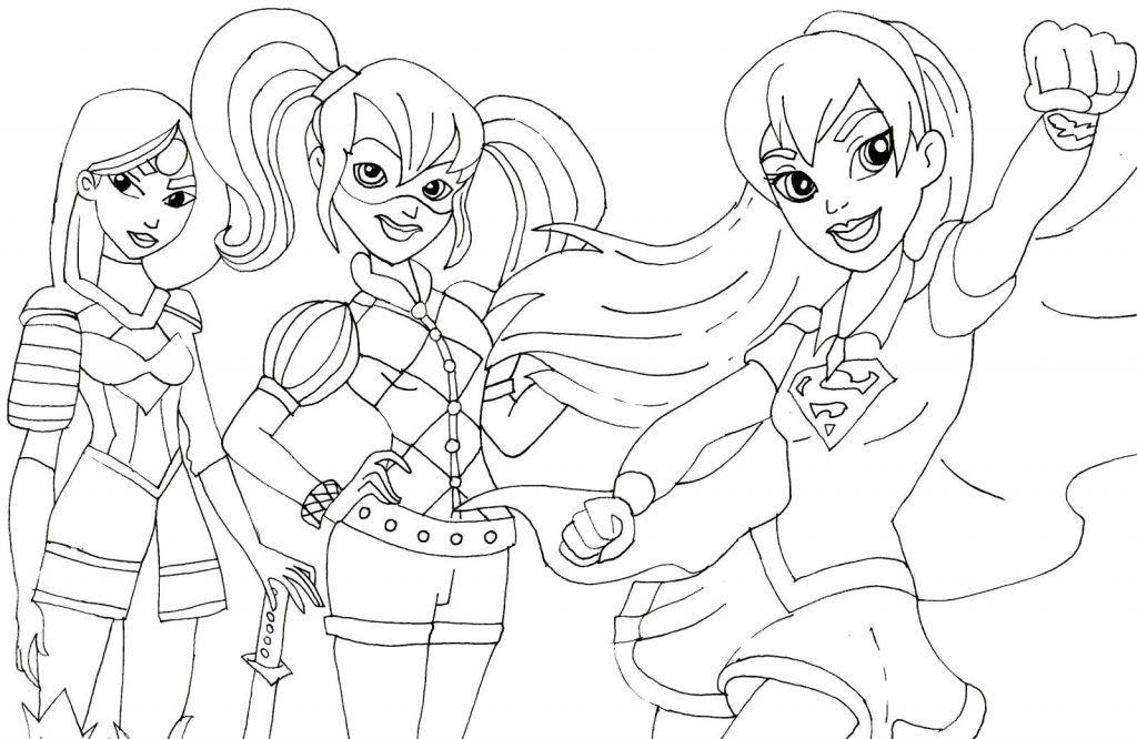 DC Superhero Girls Coloring Pages Superhero coloring