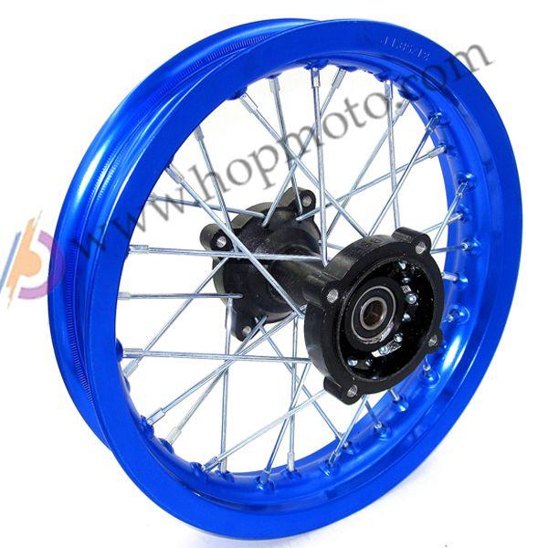 12mm Or 15mm Rear 1 85 12 Inch 6000 Aluminum Alloy Back Wheel Rim Pit Pro Trail Dirt Bike Redpit Bike Parts Blue Colou Wheel Rims Motorcycle Wheels Bike Parts