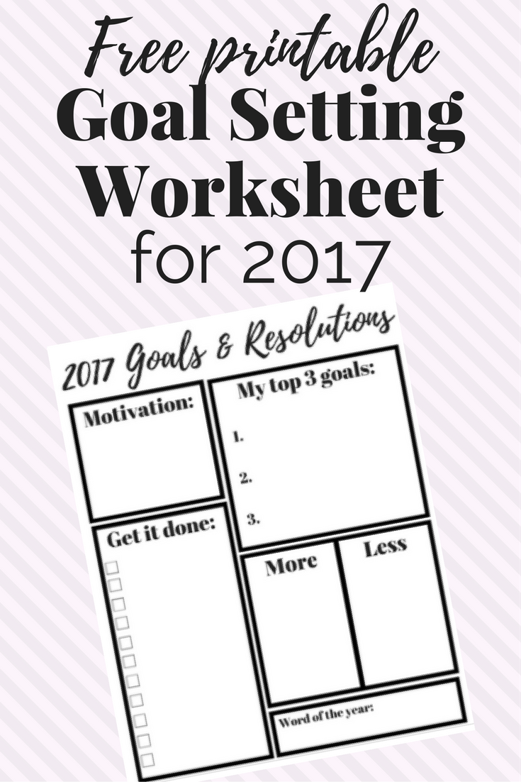 A Free Printable Goal Setting Worksheet For The New Year This
