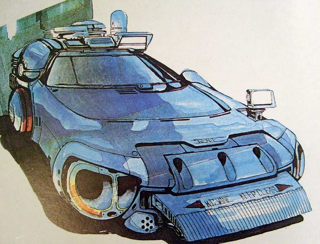 Blade Runner - Spinner concept sketch by Jim Burns for the movie ...