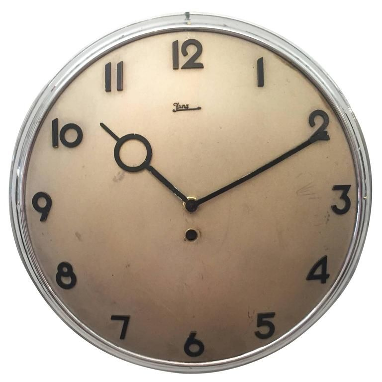 Junghans Bauhaus Wall Clock From The 1930s Wall Clock Modern Clock Clock