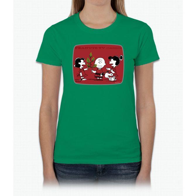 peanuts christmas kids charlie brown ladies t shirt