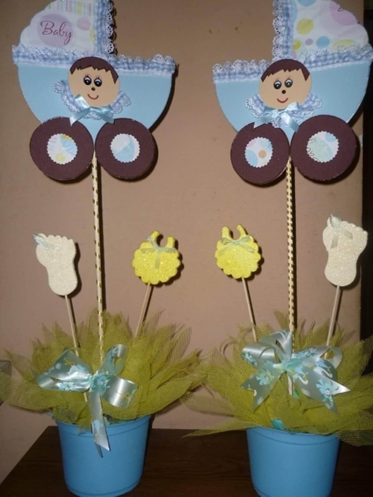 Mesas De Baby Shower Sencillas : mesas, shower, sencillas, Centro, Sencillos, Shower, Mesas, Shower,, Temas, Niño,, Infantil