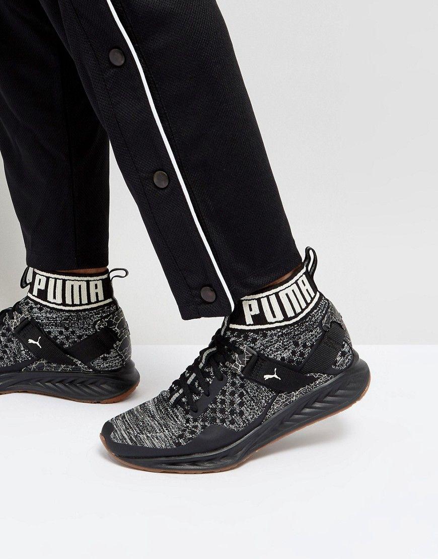 88502d55e778 PUMA IGNITE EVOKNIT HYPERNATURE SNEAKERS IN BLACK 19033703 - BLACK.  puma   shoes