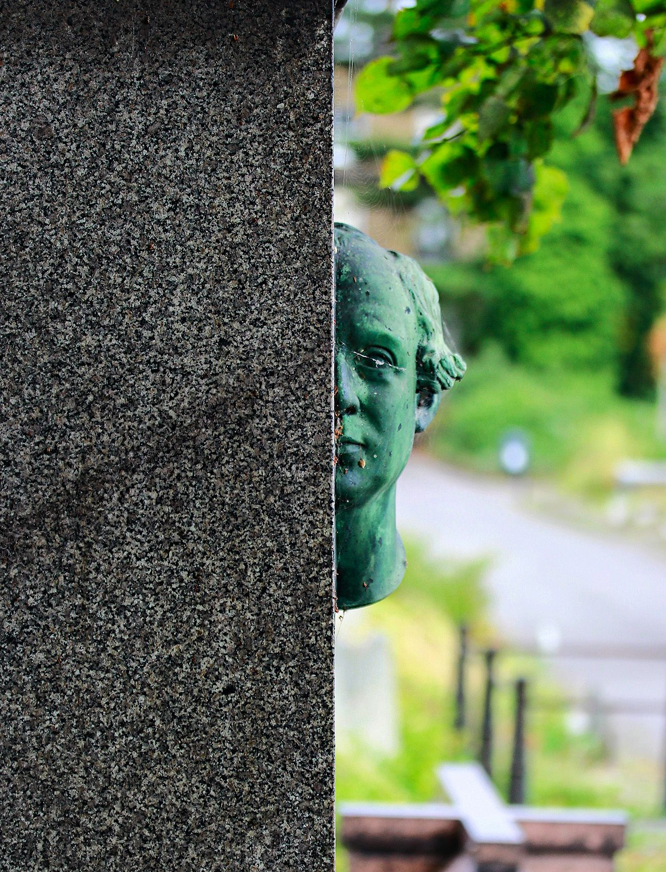Brompton Cemetery in London. Detail of a Memorial Stone