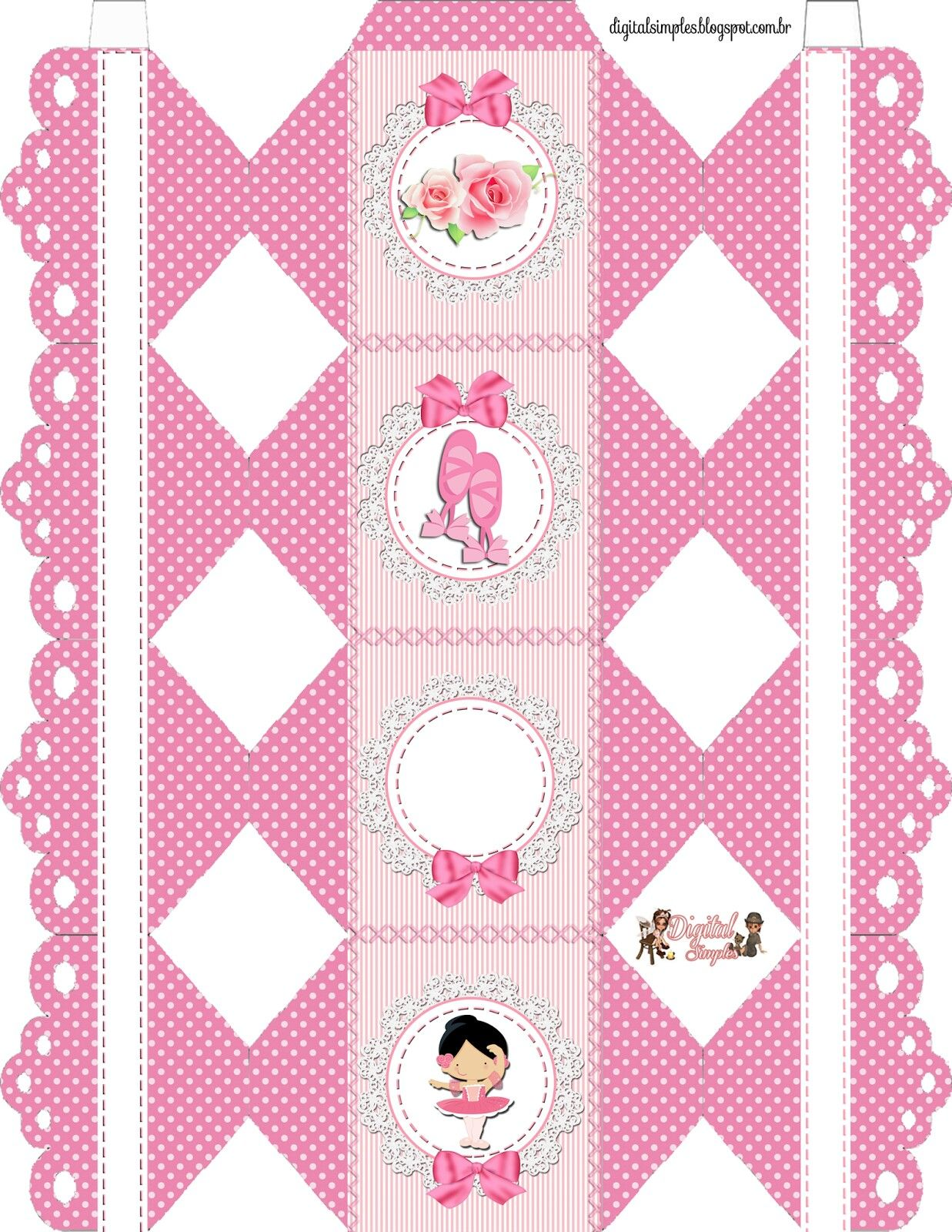 Caja caramelo | moldes de cajas y kits para fiestas | Pinterest ...