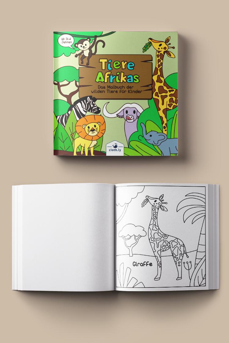 Tiere Afrikas Das Malbuch Der Wilden Tiere Fur Kinder Ab 3 4 Jahren Tierwelt Kindermalbuch Kinder Tiere Kinder Malbuch Wenn Du Mal Buch
