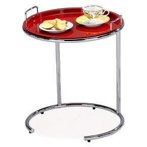 Favorite Finds Tray Top Sofa Server Red Finish Leick