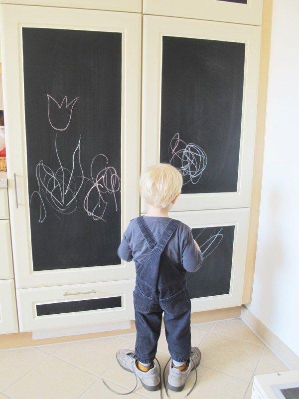 Idee, Tafelfolie, kinder, küche, Kühlschrank, DIY, Selbermachen