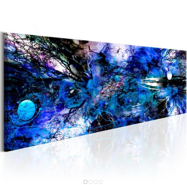 Quadri E Tele Moderne.Quadro Blue Artistic Chaos Quadri Artwork Artist E Blue