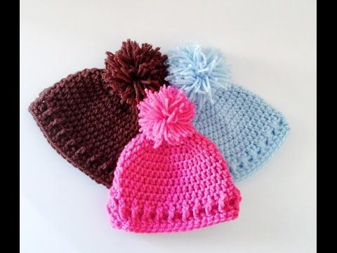 Very Easy Crochet Baby Beanie Tutorial Croby Patterns Youtube