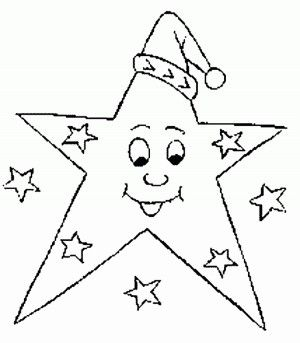Christmas Star Santa Coloring Pages
