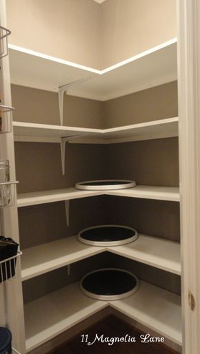 Corner pantry redo with solid shelving from 11 Magnolia Lane | 11 Magnolia Lane