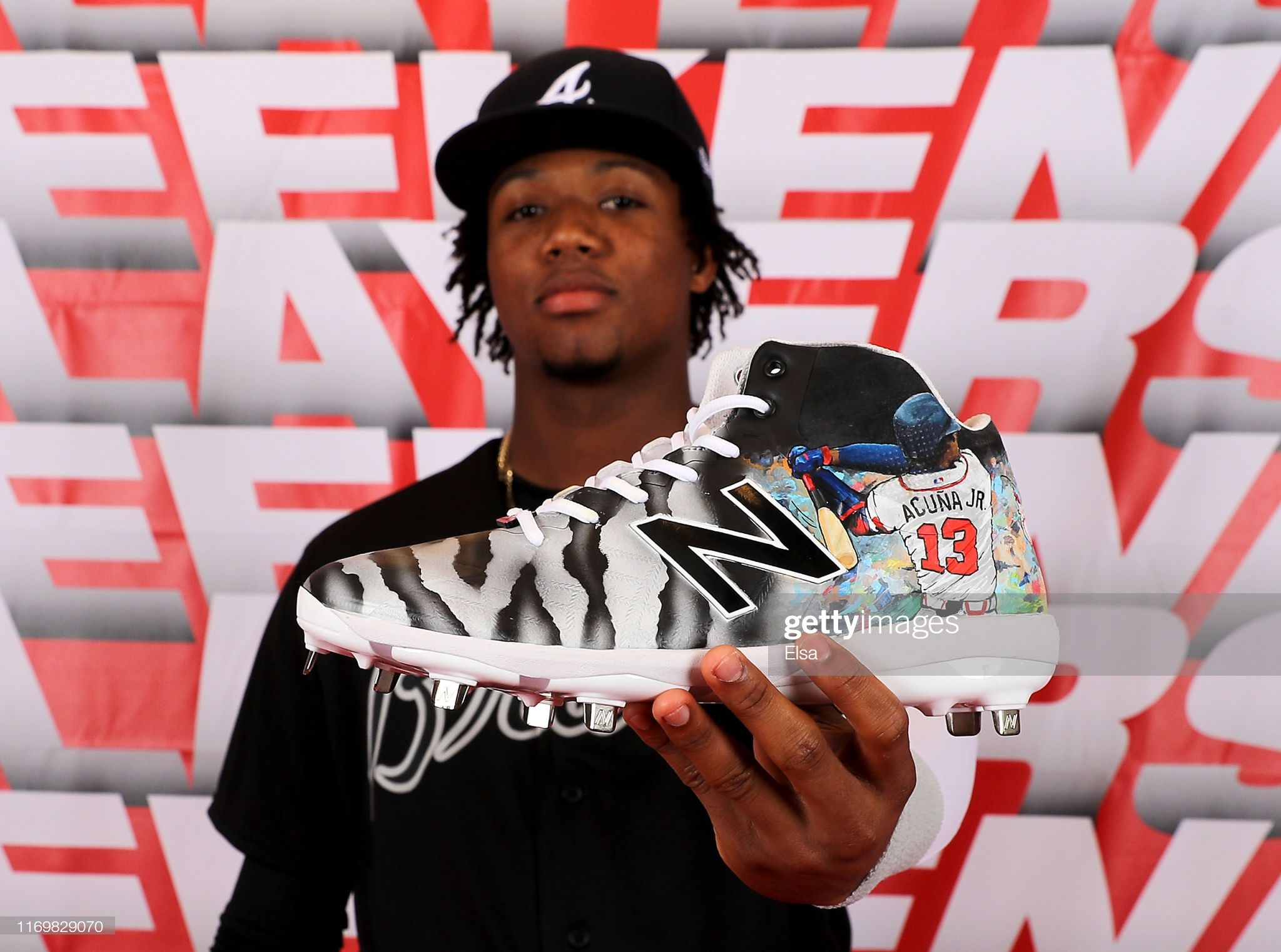 Ronald Acuna Jr 13 Of The Atlanta Braves Shows Of His Custom Cleats Atlanta Braves Braves Atlanta