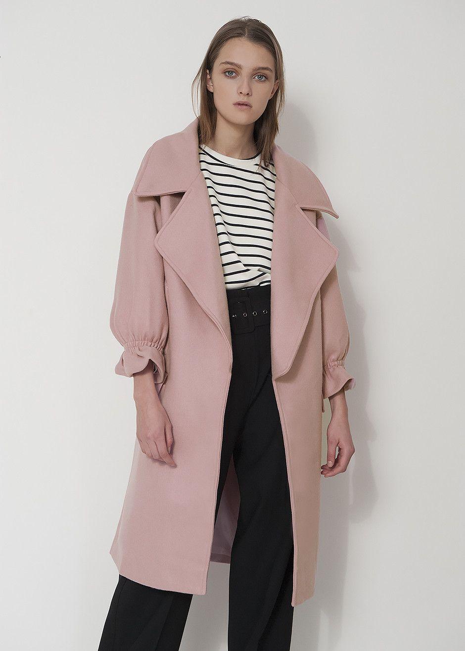 Pink Lapel Coat | Pink, Coats and Shops