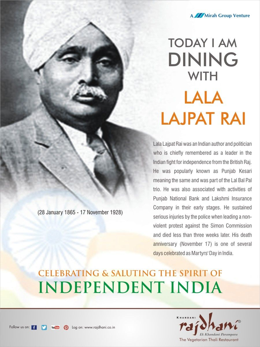 Lala Lajpat Rai was a leader in the Indian fight for