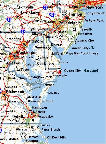 Ocean City Md Map Places Ive TRAVELED Pinterest Ocean City - Ocean city md map