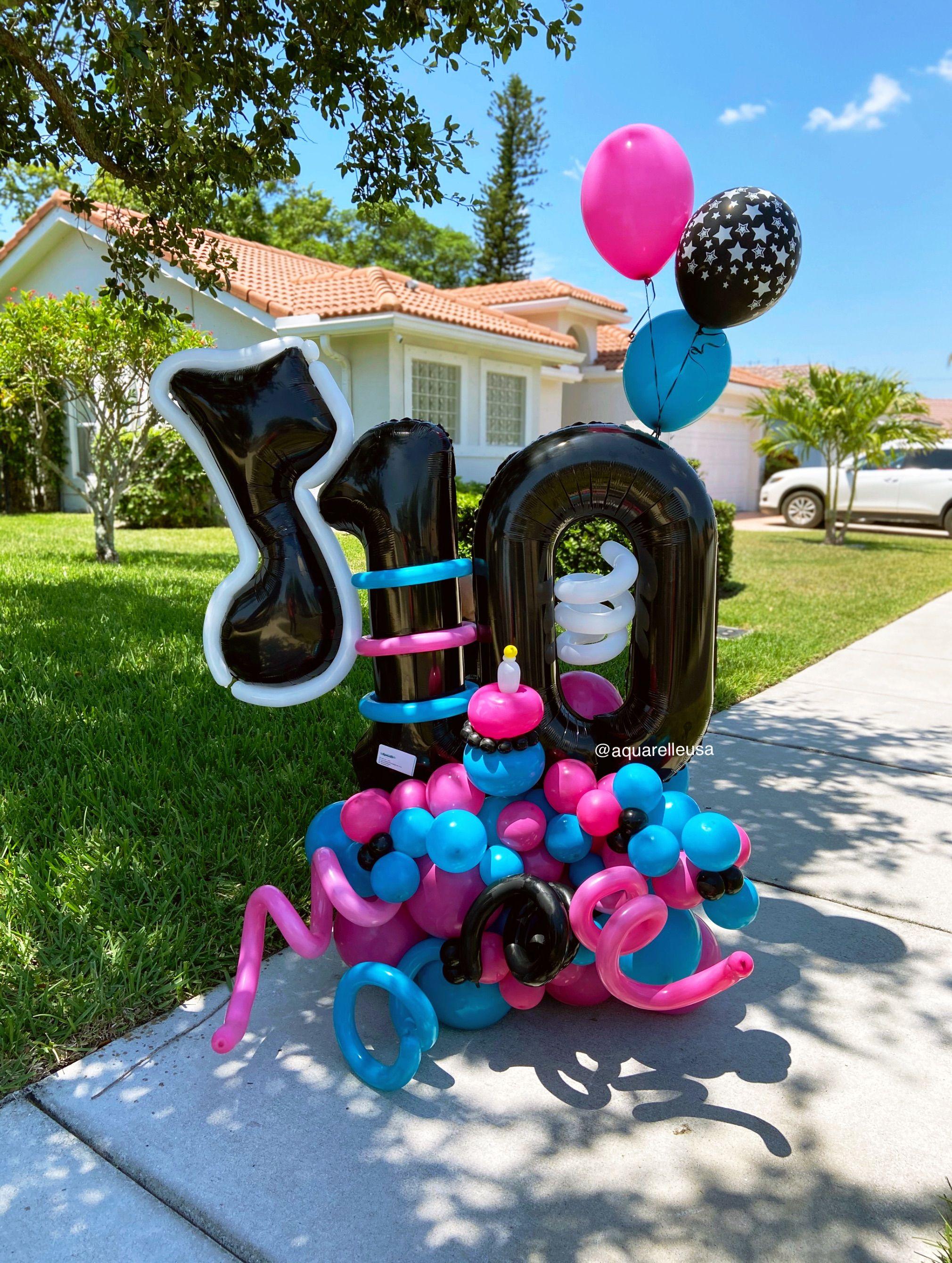 Tik Tok Birthday Balloon Bouquet Birthday Balloons Balloon Decorations Party Birthday Balloon Decorations