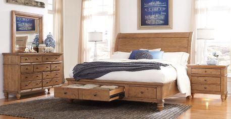 shop for aspenhome queen wood sleigh bed headboard and other bedroom beds at alpena furniture in alpena mi 8 inches from floor to bottom of rails