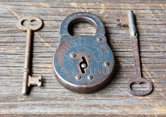 Vintage Lock And Skeleton Keys By Rootedinvintage On Etsy 14 00 Old Keys Key Lock And Key
