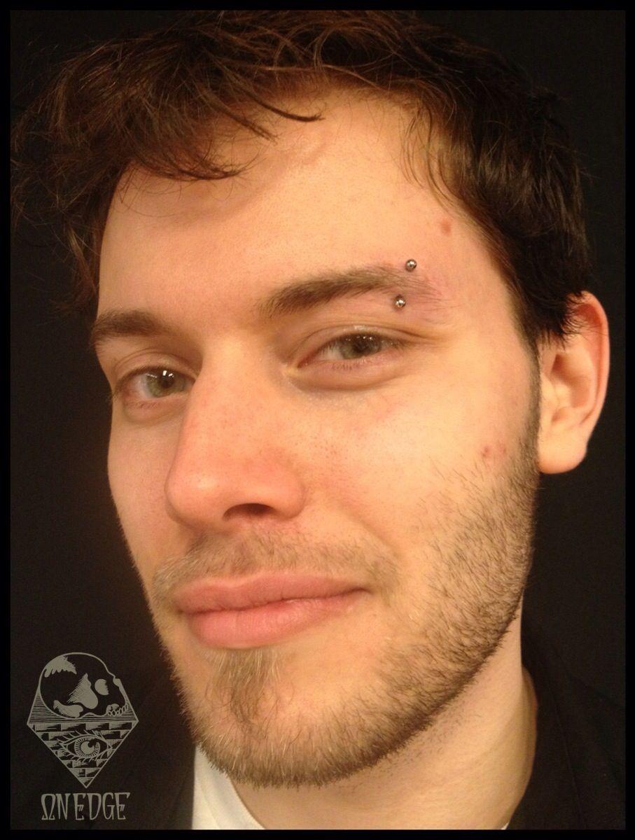 Fresh Eyebrow Piercing With Industrial Strength Jewelry Piercing