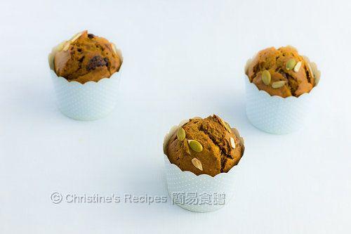 南瓜乳酪瑪芬【下午茶小食】 Pumpkin Yoghurt Muffins from 簡易食譜