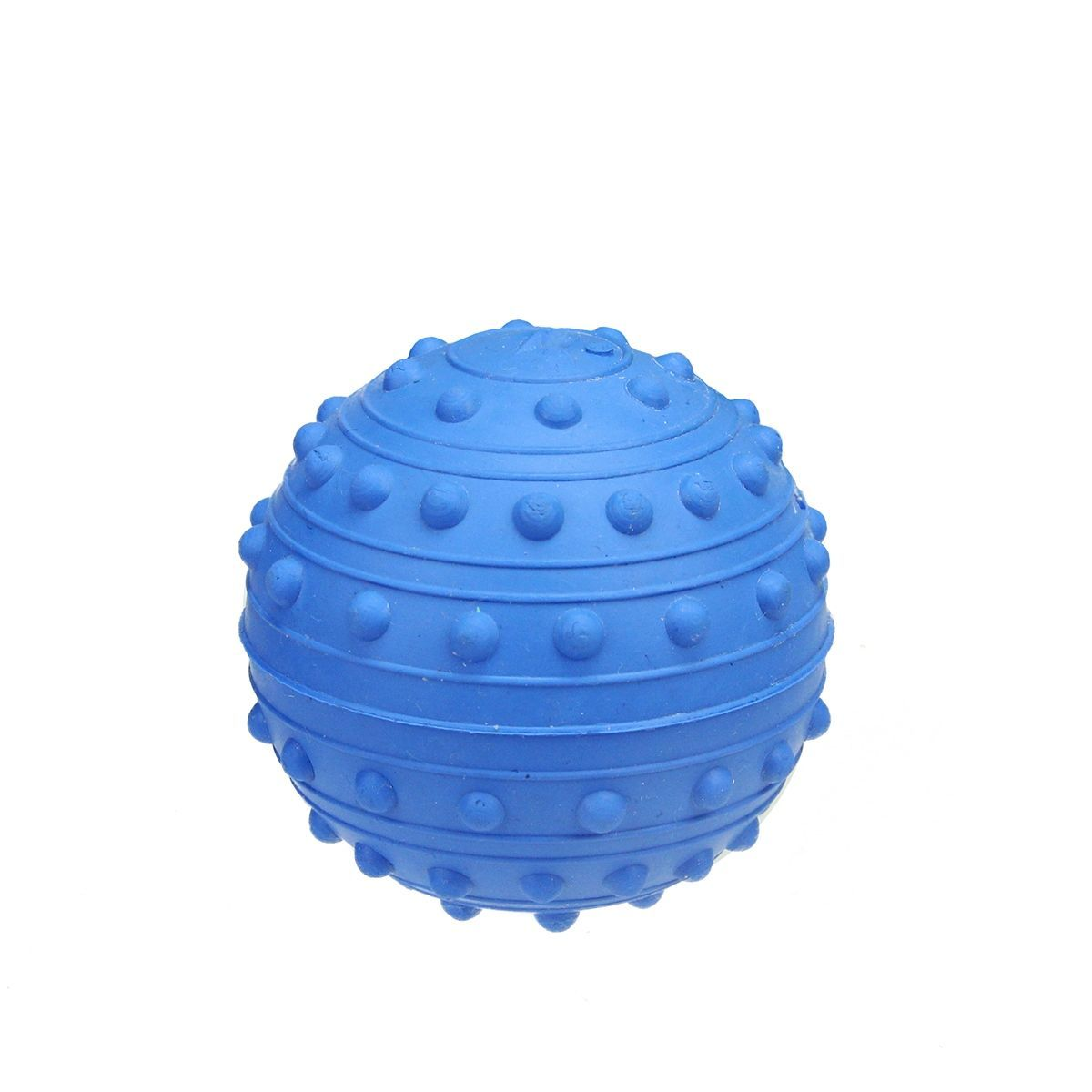 "2.5"" Cerulean Soft and Flexible TPR Rubber Ball Puppy Dog Fetch Toy with Squeaker"
