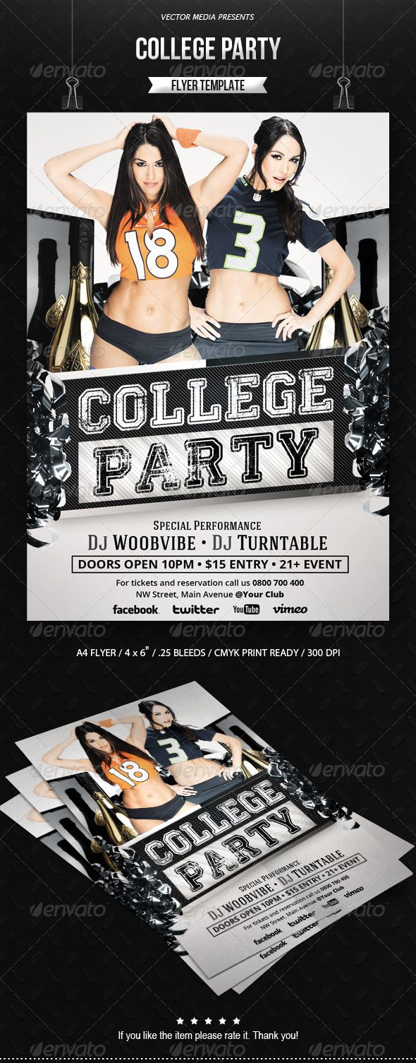 college club flyers