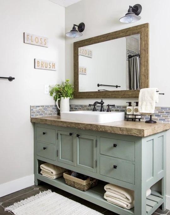 Bathroom Vanity 2 In 2020 Wooden Bathroom Vanity Shelves Vanity