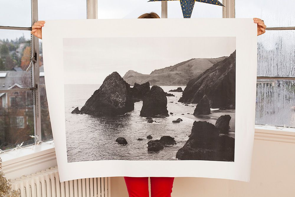 DIY project for over-sized photo prints handmade and homemade - copy what is blueprint paper called