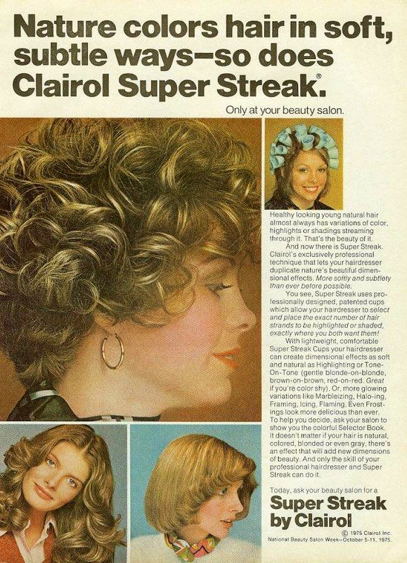 Super Streak | Clairol, Vintage hair salons, Beauty ...