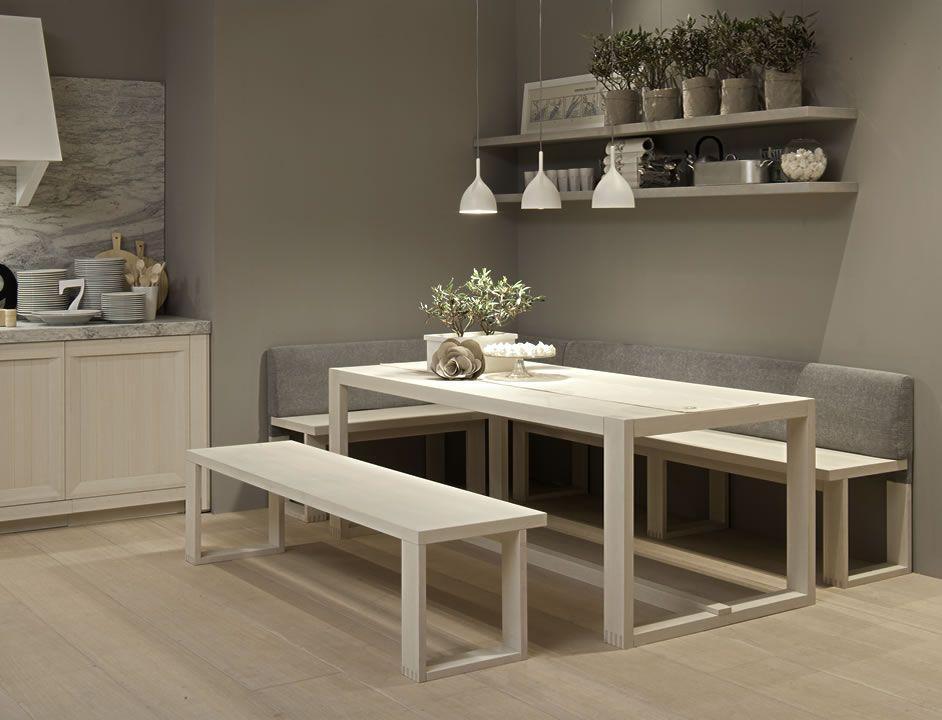 Mesa sillas y bancadas arkadia mesas pinterest - Bancos esquineros para cocina ...