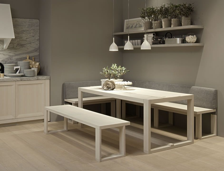 Mesa sillas y bancadas arkadia mesas pinterest - Bancos para cocina ...