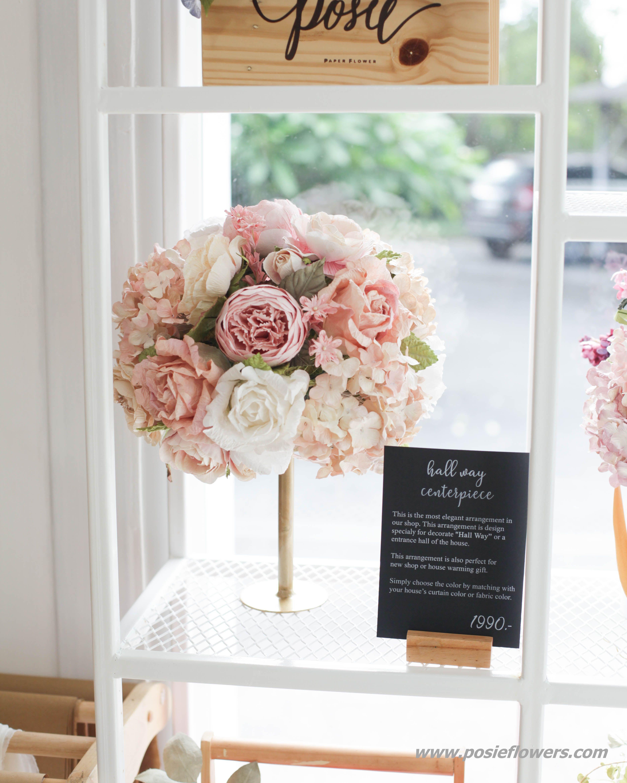 Hallway Centerpiece Paper Flower Centerpiece Found On Etsy