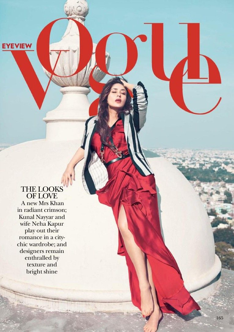 Vogue India Kareena Kapoor Taj Falaknuma Palace Vogue India Vogue Vogue Magazine