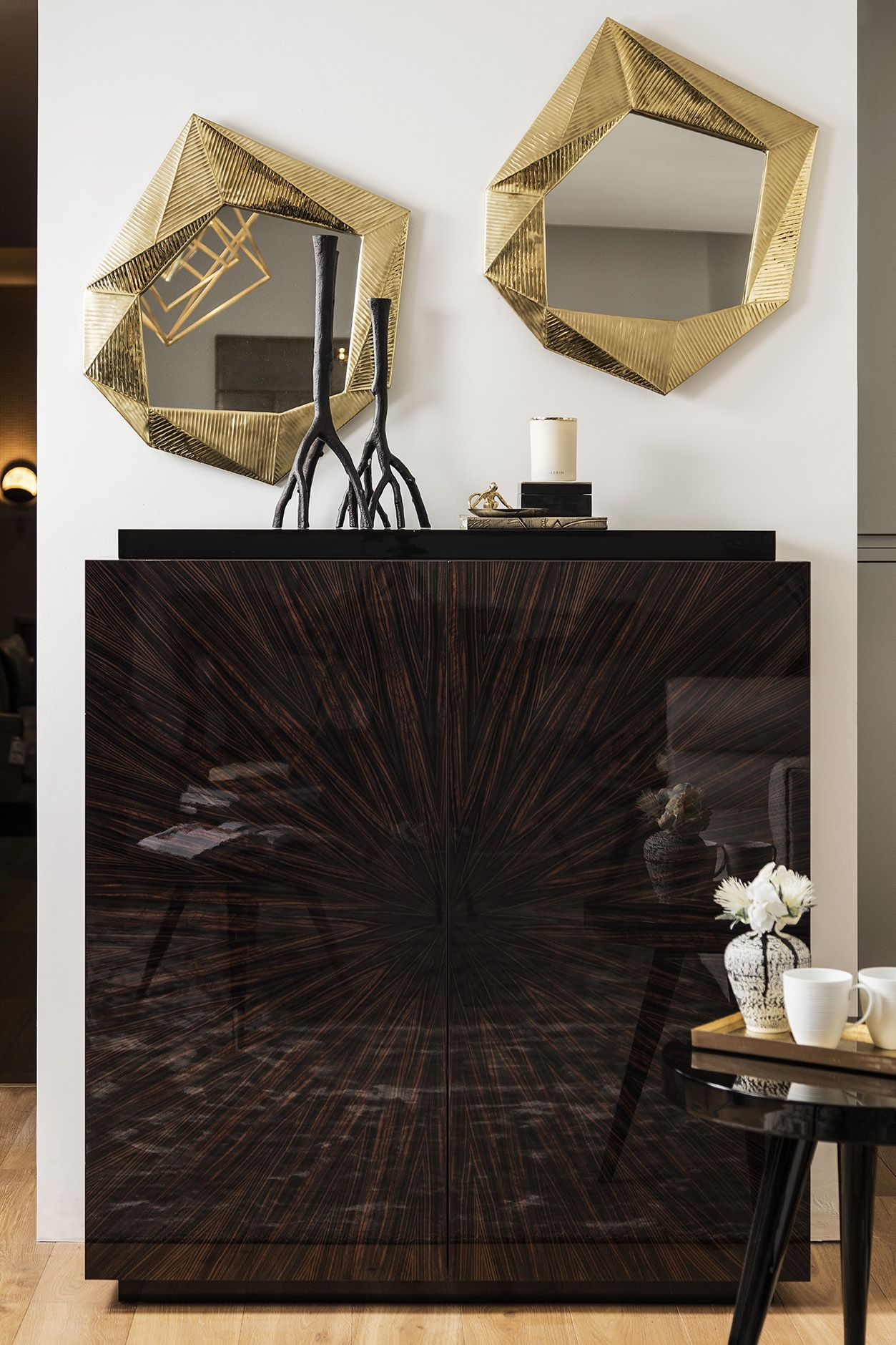 ASHBY ART DECO-INSPIRED LIVING ROOM CABINET. The exquisite ...