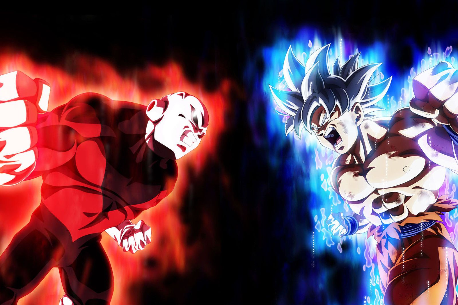 Dragon Ball Super Poster Goku Ultra Instinct Vs Jiren 12in X 18in Free Shipping Dragon Ball Goku Dragon Ball Super