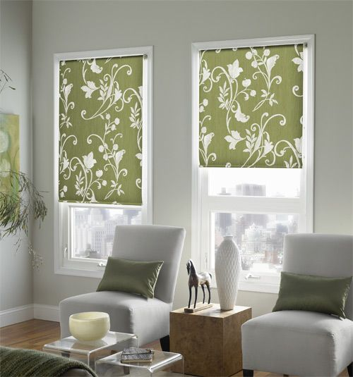 Expressions Roller Shades Patterns Traditional French door
