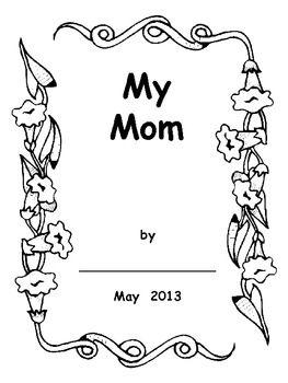Mother's Day Booklet for Preschool, Kindergarten, or First