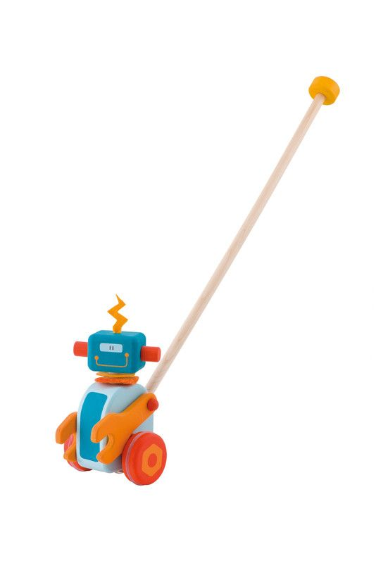 Wooden Robot Push Toy
