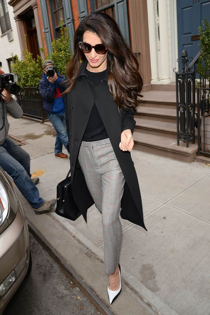 What To Wear To Work 2018 >> 25 Amal Clooney Work Outfit Ideas To Wear To The Office | Fall C...