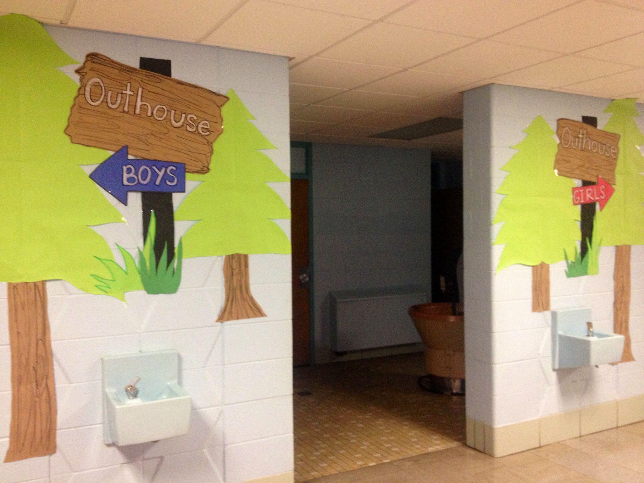 school bathroom.  murals in school bathrooms yes Pinteres