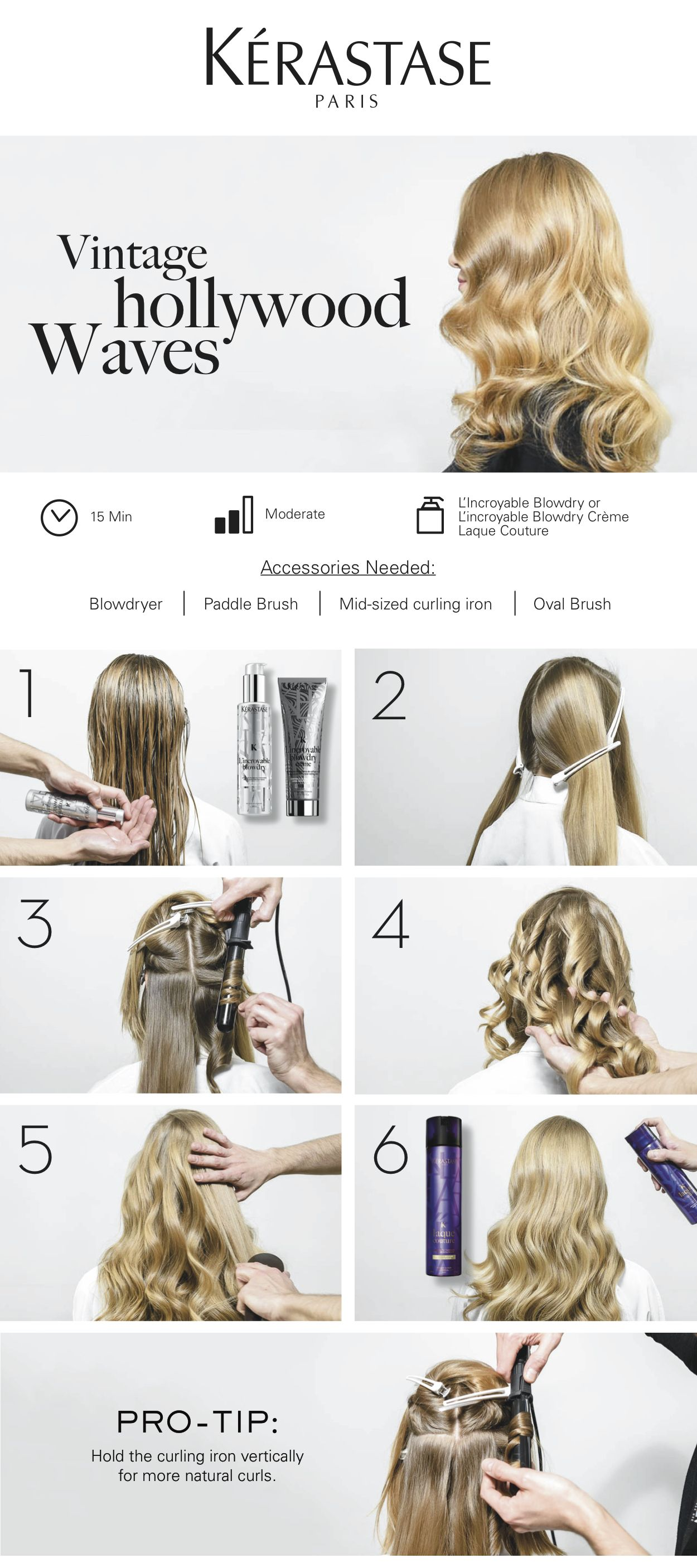 Get The L Incroyable Look Follow Our Step By Step Hair Tutorial To Create Vintage Hollywood Waves In Ju Wavy Hairstyles Tutorial Vintage Waves Hair Hair Waves