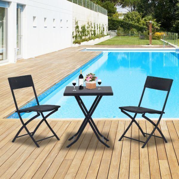 ajoutez un beau style a votre jardin ou patio et profitez du bel ete dehors cette ensemble de chaises et table style bistro cafe est ideal pour n importe