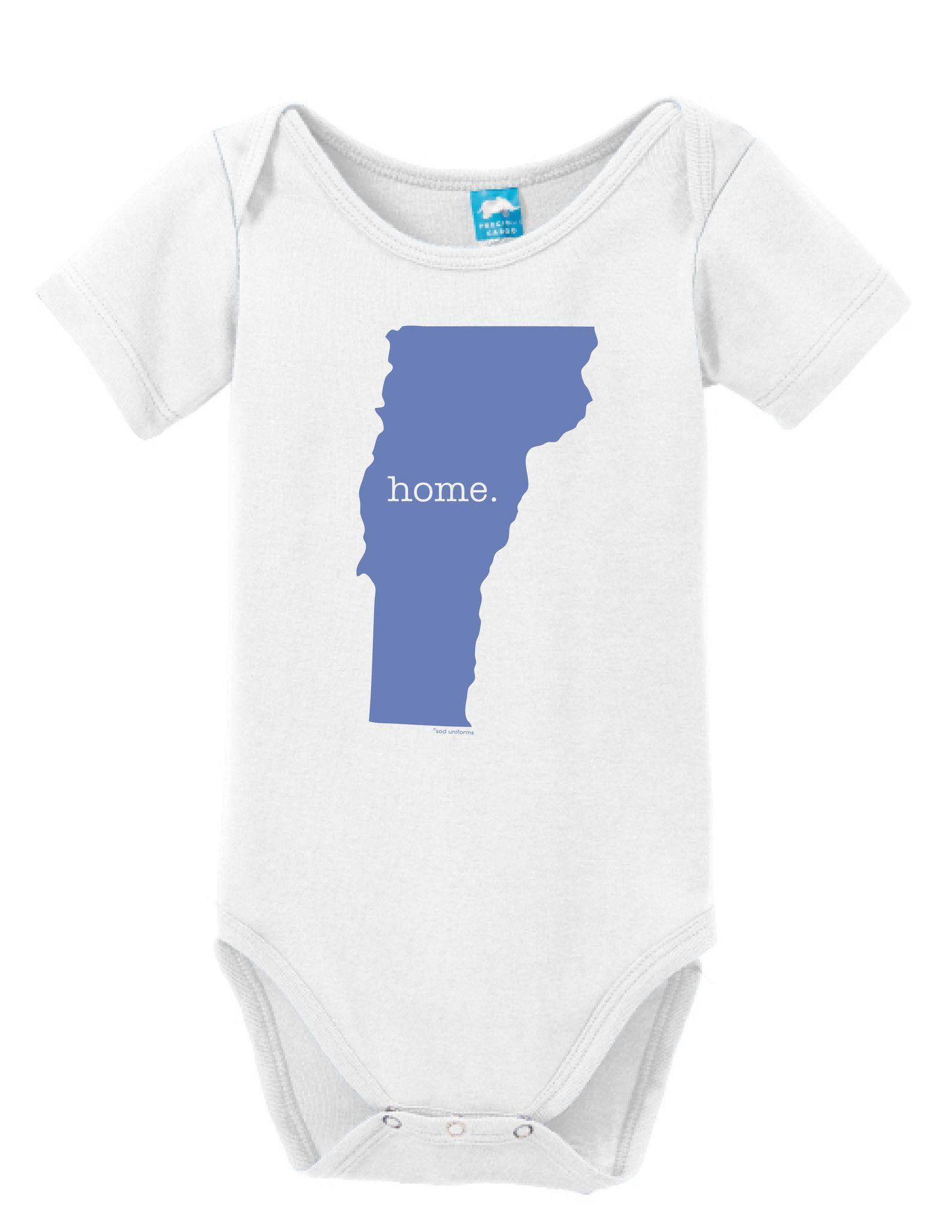 Vermont Home Onesie Funny Bodysuit Baby Romper