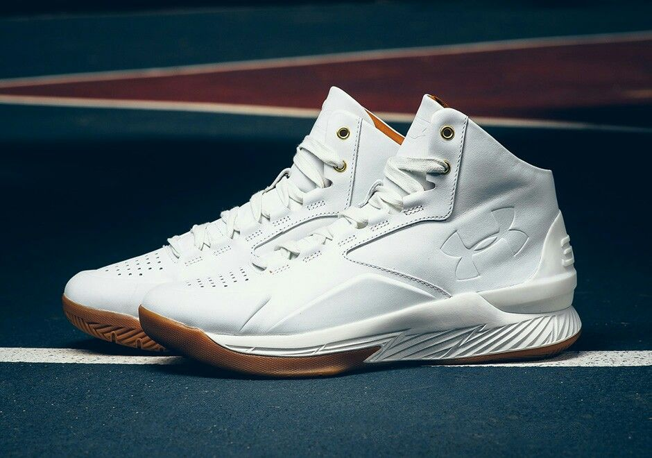 the best attitude 67085 5afd0 Under Armour Curry One Lux - Mid Leather White | Steph Curry ...